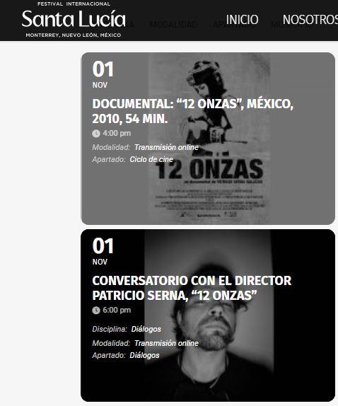 Tendrá ficmonterrey  proyección de películas dentro del Festival Internacional Santa Lucía